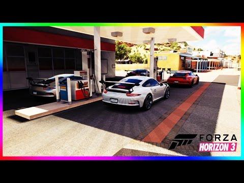 Forza Horizon 3 - Three Porsche 911 GT3 RS Gameplay HD 1080p