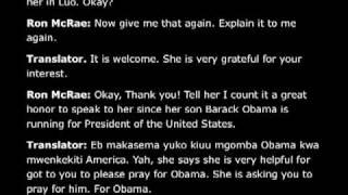 Obama Grandmother audio: Barack Born in Kenya