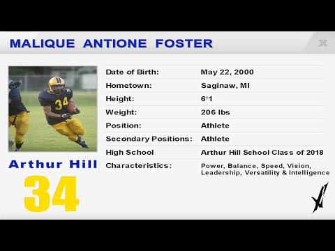 Malique Foster  Arthur Hill High School  Football Highlights
