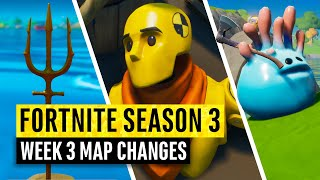 Fortnite | All Season 3 Map Updates and Hidden Secrets! WEEK 3