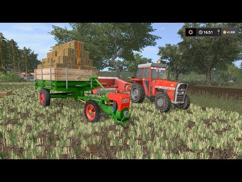 Baling straw and hay | Small Farm | Farming Simulator 2017 | Episode 13