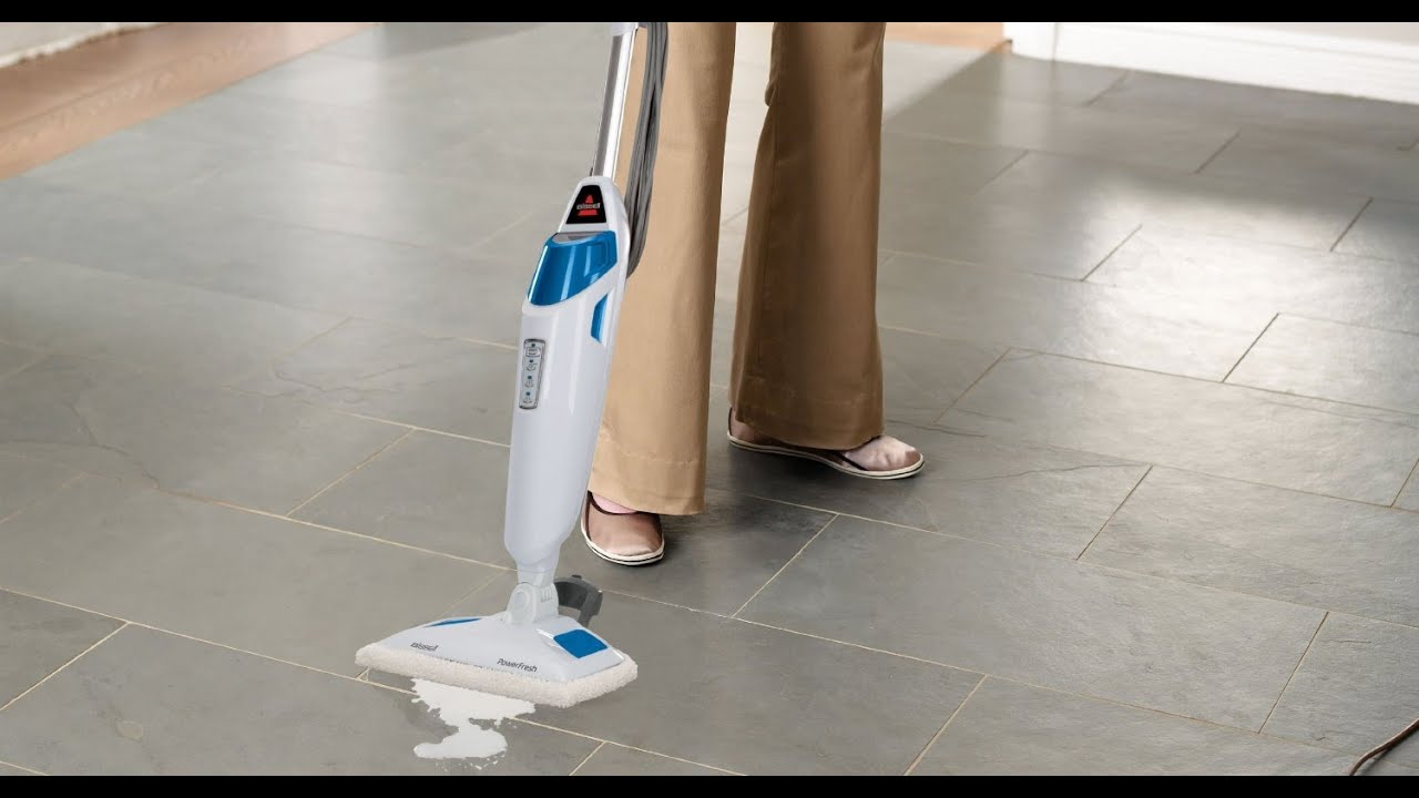 Mopping Kitchen Floor Bissell Powerfresh Steam Mop Blue 1940 Type Reviews Youtube