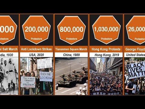 Biggest Protests Comparison