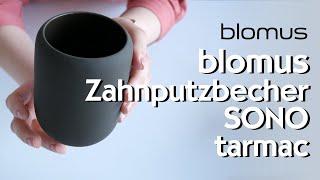 blomus Sono Zahnputzbecher tarmac schlammgrün