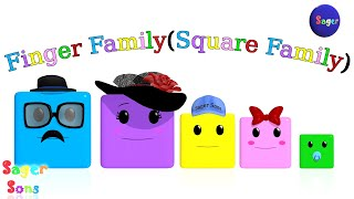 Finger Family - Square Family Song - Nursery Rhymes  by Sager Sons