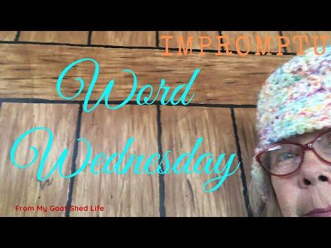 Word Wednesday Impromptu