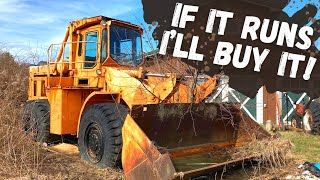 Sitting 20+ years, Will this MASSIVE Wheel Loader Run and Drive home?!?!  (Cummins Power!)