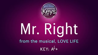 Mr. Right, from the musical, LOVE LIFE by Kurt Weill & Alan Jay Lerner  (karaoke piano)  WITH LYRICS