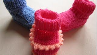 """ВЯЗАНИЕ СПИЦАМИ САМЫХ ПРОСТЫХ ПИНЕТОК + с узором """"ЗУБЧИКИ"""" для только начинающих!Knitting"""