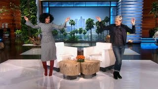 Tracee Ellis Ross Makes Her Ellen Debut