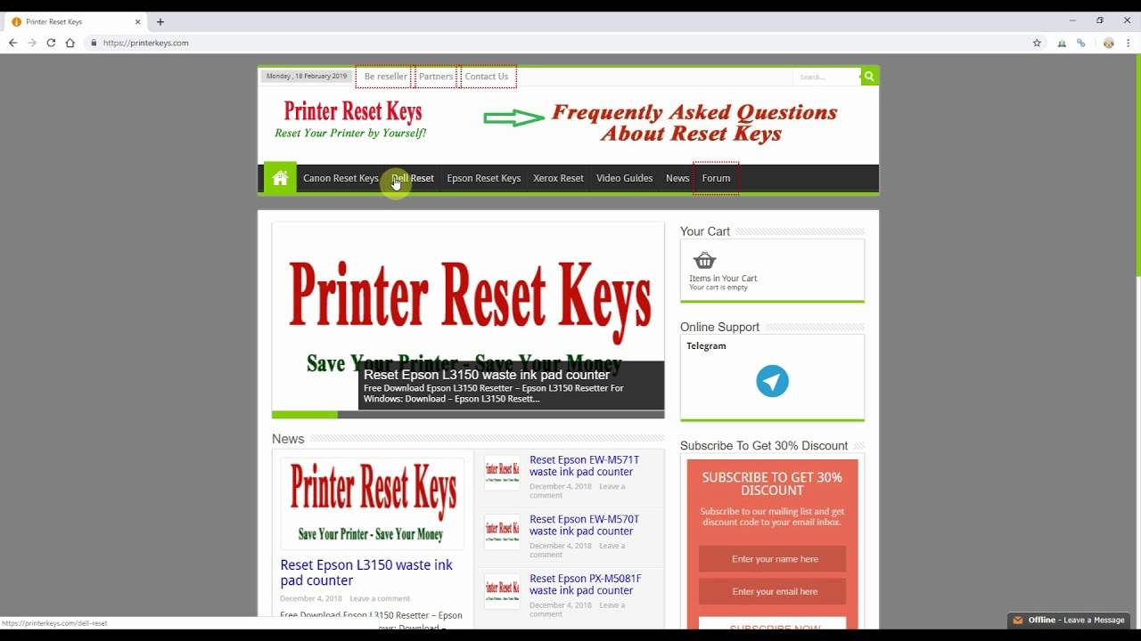 Reset Epson Xp 217 Waste Ink Pad Counter Youtube