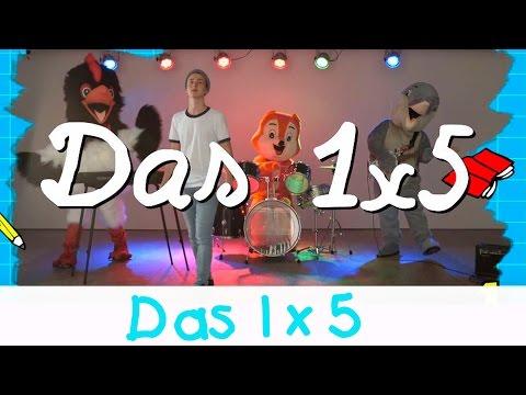 Das 1x5 Lied - Mathe Lernlieder || Kinderlieder