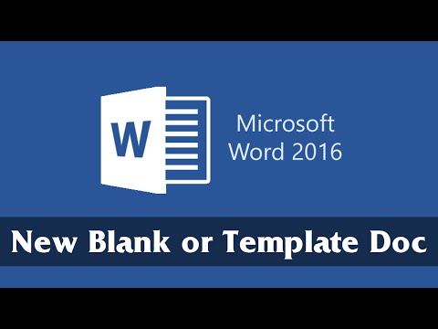 Create a New Blank or Template Document | Part 1 | Microsoft Word 2016 Tutorial for Beginners
