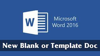 Maak een Nieuw, Leeg Document of Sjabloon | Deel 1 | Microsoft-Word-2016 Tutorial voor Beginners