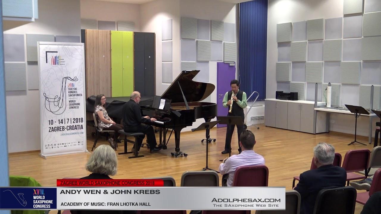 Dialogue by Robert Boutry    Andy Wen & John Krebs   XVIII World Sax Congress 2018 #adolphesax