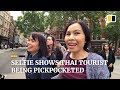 Thai tourist's selfie captures London pickpockets stealing her purse