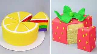 BEST DELICIOUS CAKES | Top Fondant Fruit Cake Decorating Compilation | Tasty Fruit Cake