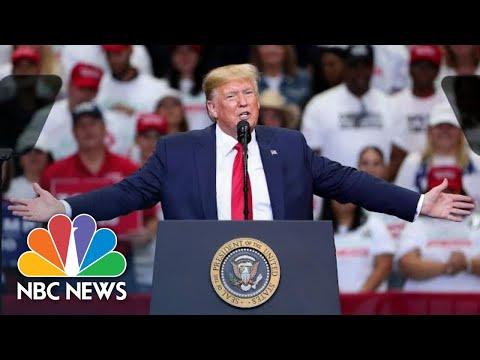 President Donald Trump Rails Against Nancy Pelosi, Touts Turkey Ceasefire At Dallas Rally | NBC News