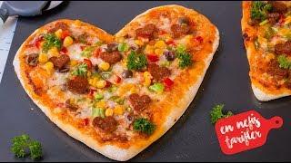 Evde KALP Şeklinde Pizza Nasıl Yapılır? En Güzel Pizza Tarifi (Pizza Hamuru Tarifi)