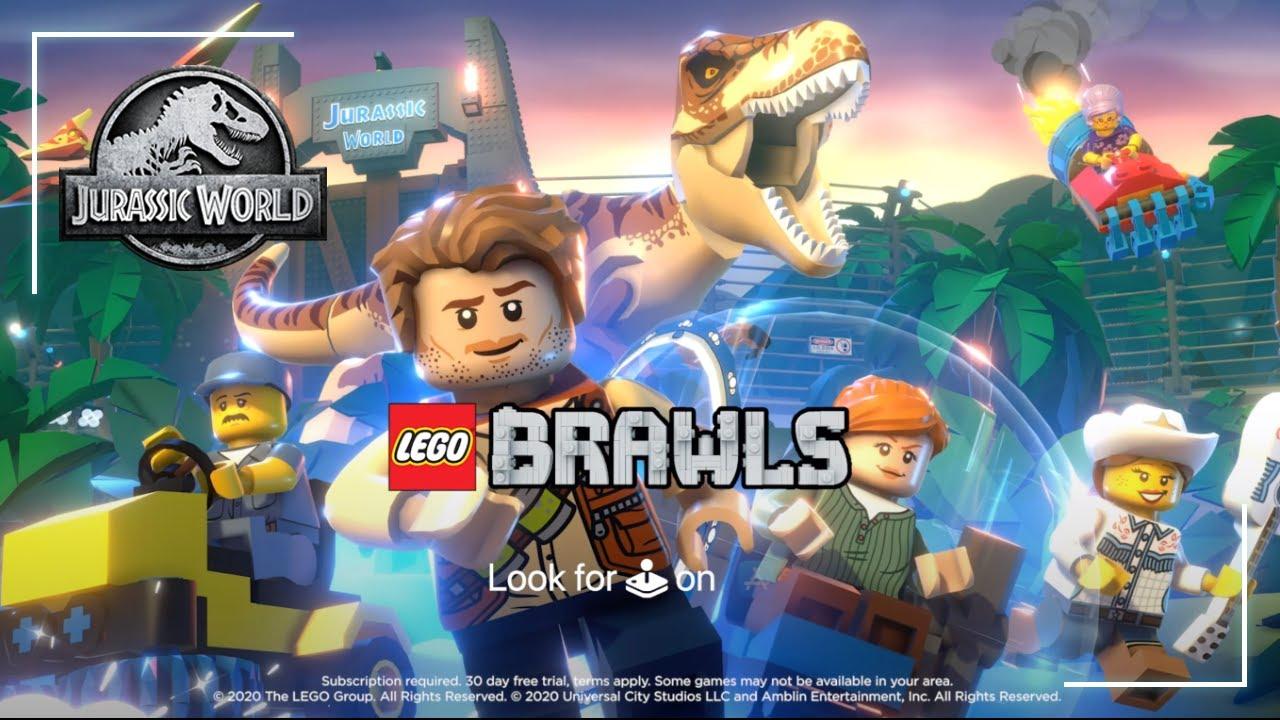 Lego Brawls Jurassic World Jurassic Park Updates Now Available In Apple Arcade Youtube