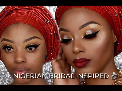 WATCH ME TRANSFORM | NIGERIAN TRADITIONAL BRIDAL MAKEUP TUTORIAL