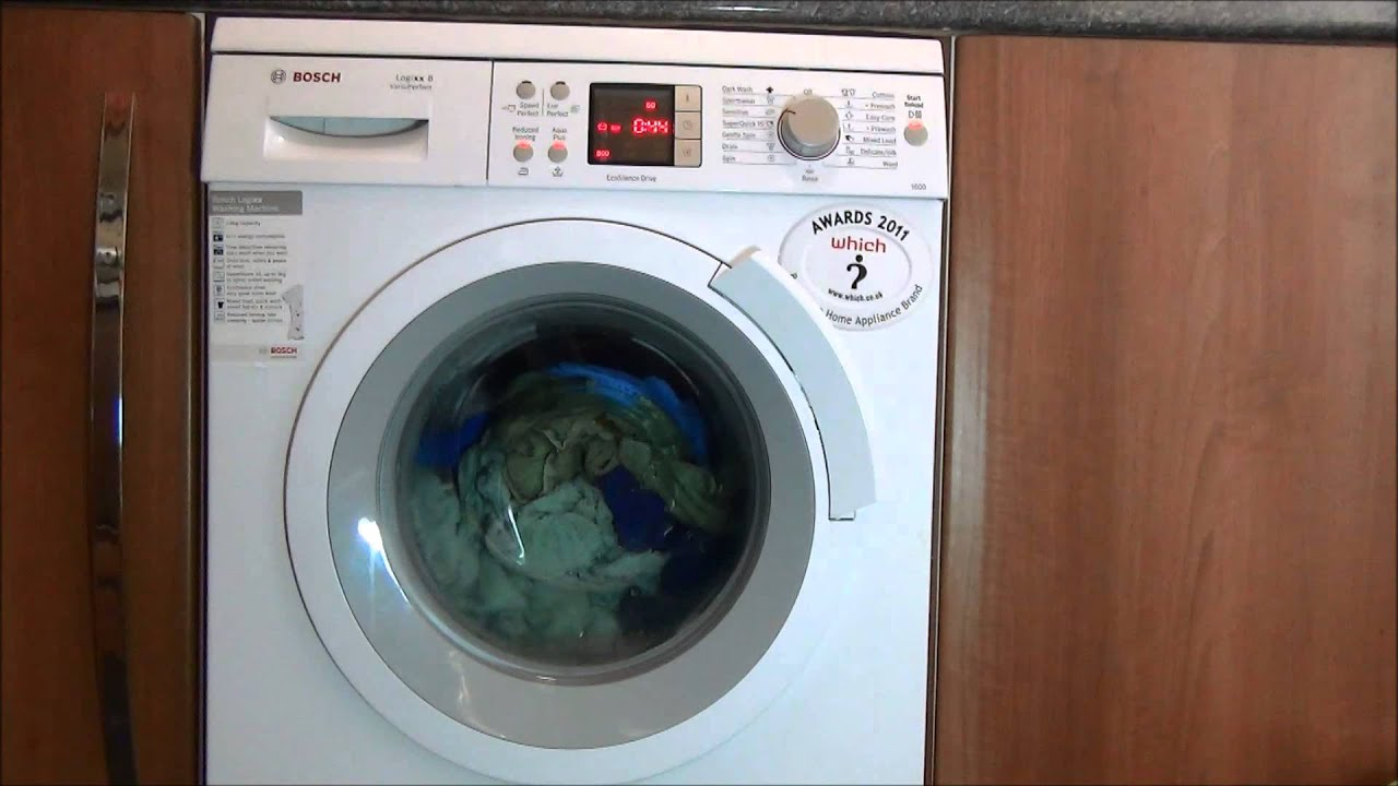 bosch logixx was32461 washing machine sensitive 60 aqua plus reduced ironing youtube