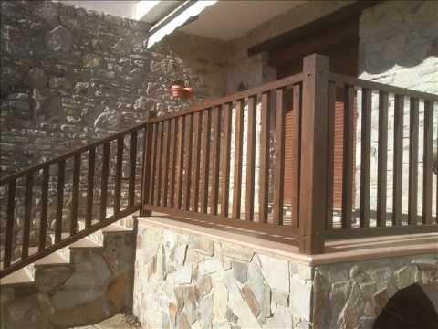 Restauraci n de barandillas de madera en badaguas - Pinturas para madera interior ...