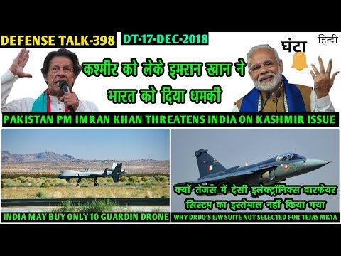 Indian Defence News:Pak Threatens India,Why Drdo's E/W suite Not Used In Tejas,only 10 gurdian UAV