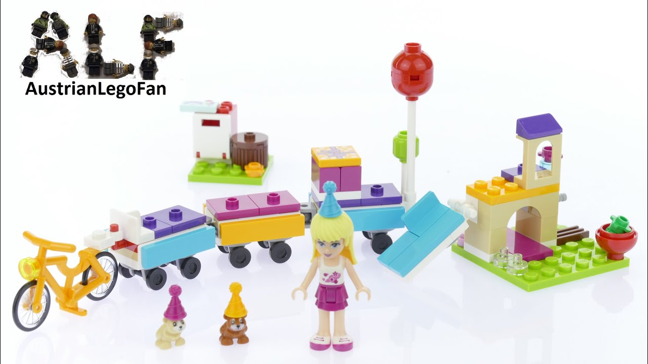 Lego Friends 41111 Party Train Lego Speed Build Review Youtube