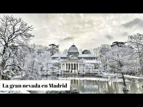 LA GRAN NEVADA QUE HA CUBIERTO MADRID ❄ – EL RETIRO NEVADO ☃