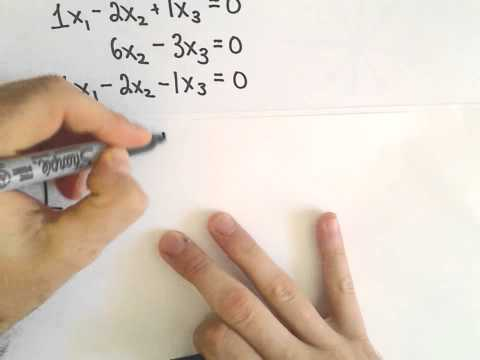 Homogeneous Systems of Linear Equations - Trivial and Nontrivial Solutions, Part 1