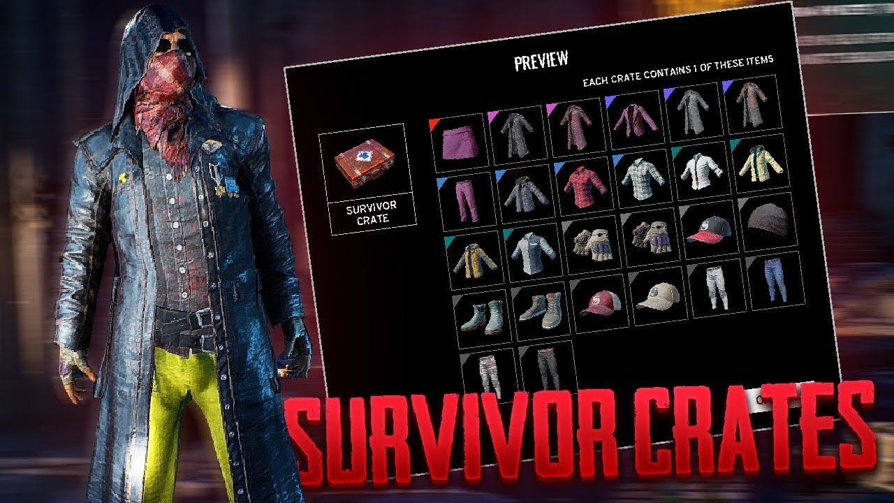 pubg reward crates