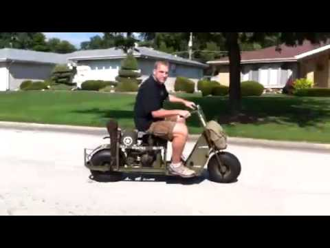 1944 Cushman Model 53 Airborne Scooter Lil Abner Youtube
