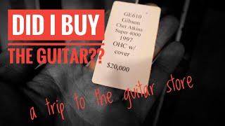 Did I Buy The Guitar?? - Trip To Carter Vintage Guitars in Nashville | Vlog - Guitar Pedal Demo