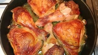 Как приготовить Куриные окорочка чтоб не Пригорели в духовке! + Кормлю Кота Барсика! Смех! 🖐☺🐈🐗🏤