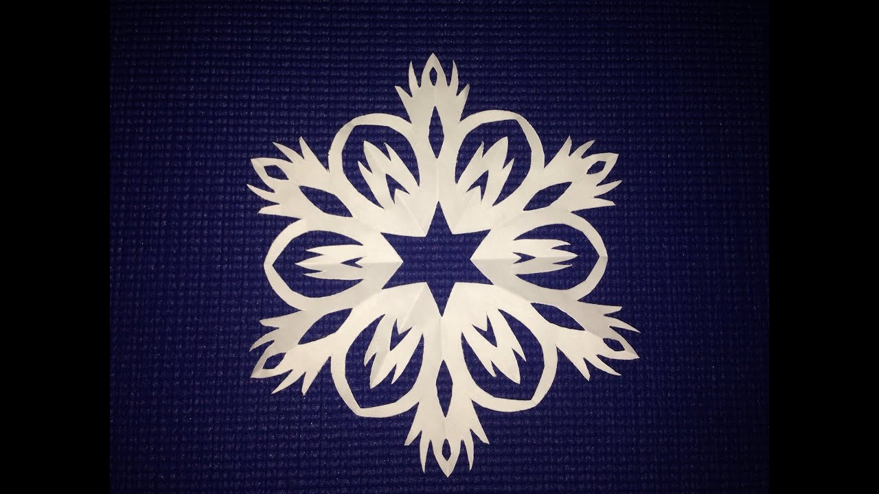 Как сделать правильную снежинку с 6 лучиками | How to make ...