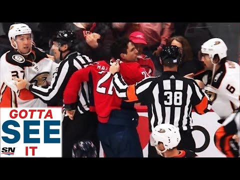 GOTTA SEE IT: Garnet Hathaway Spits On Erik Gudbranson During Huge Brawl In Washington