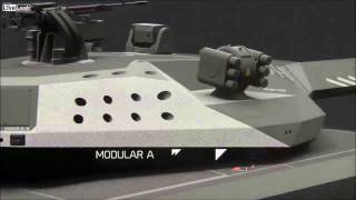 LiveLeak com   Obrum   PL 01 Stealth Main Battle Tank Concept Prototype 1
