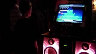 Beast Kid plays DDR (Dance Dance Revolution)