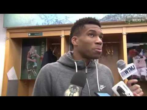The Greek Freak Giannis's Post Game Interview After Beating The Hornets [The Greek Freak]