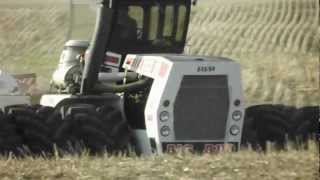 Big Bud 525/50 4wd tractor with Amity drill seeding near Humboldt, Saskatchewan.