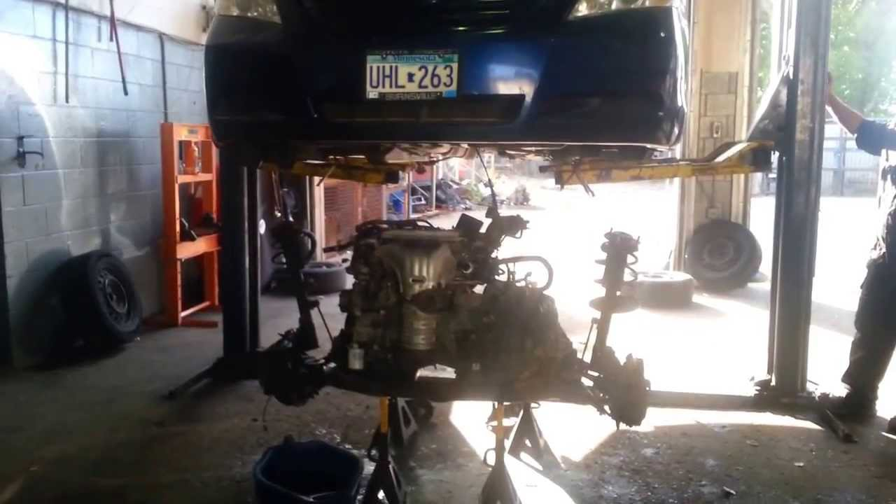Sorenson Automotive, Inc. removing engine from 07 Toyota Camry 2.4L