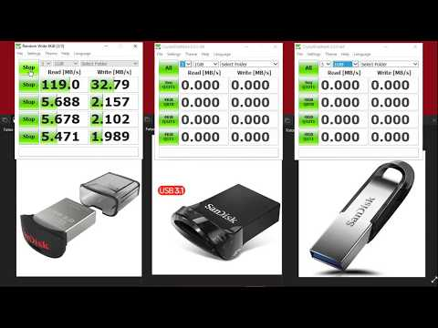 Aliexpress Sandisk Flash Drives USB 3.0 And 3.1 Speed Comparison