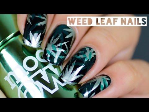 Weed Leaf Nails Youtube