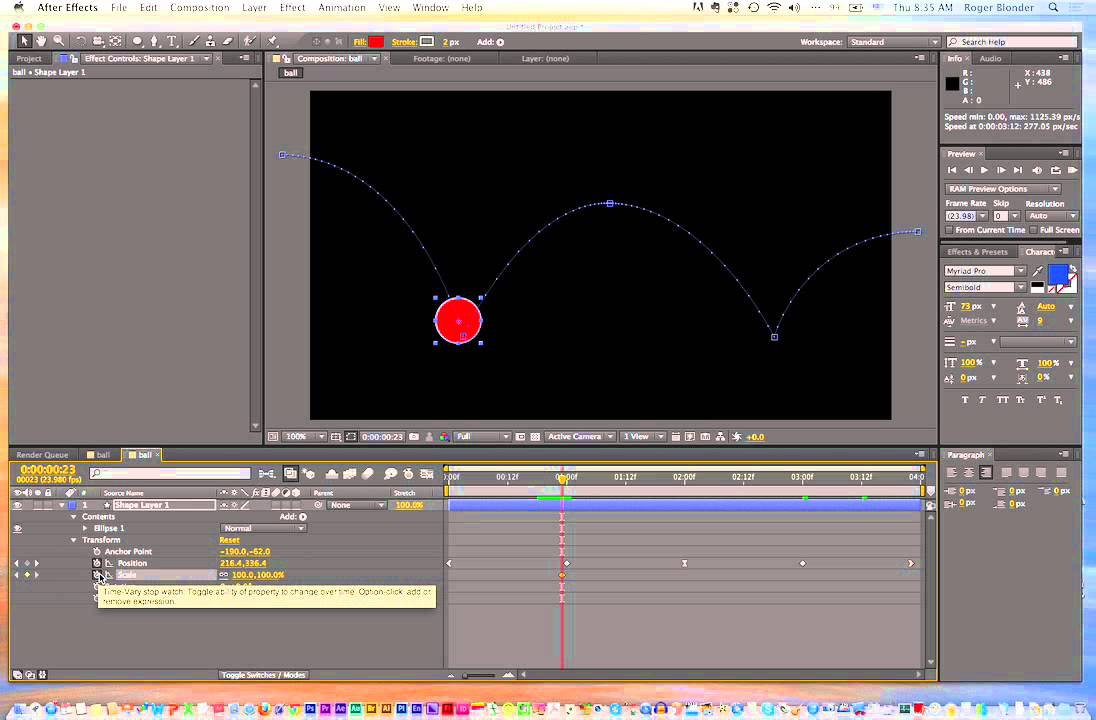 Bouncing Ball After Effects