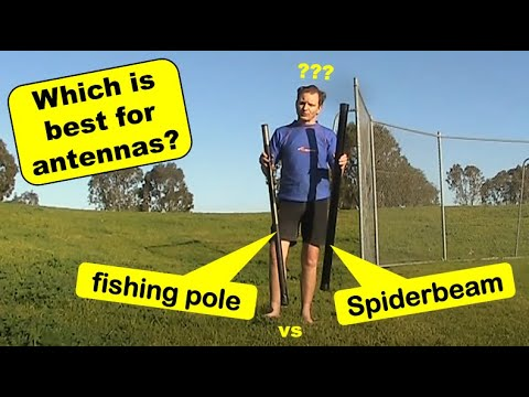 Fishing Poles Vs The Spiderbeam Mast For Supporting Antennas