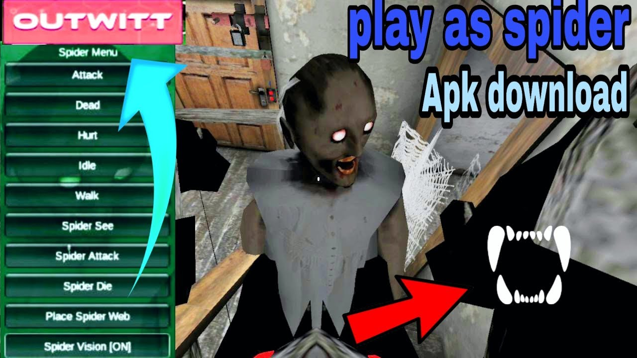Play as Spider in granny outwitt mod apk download tutorial