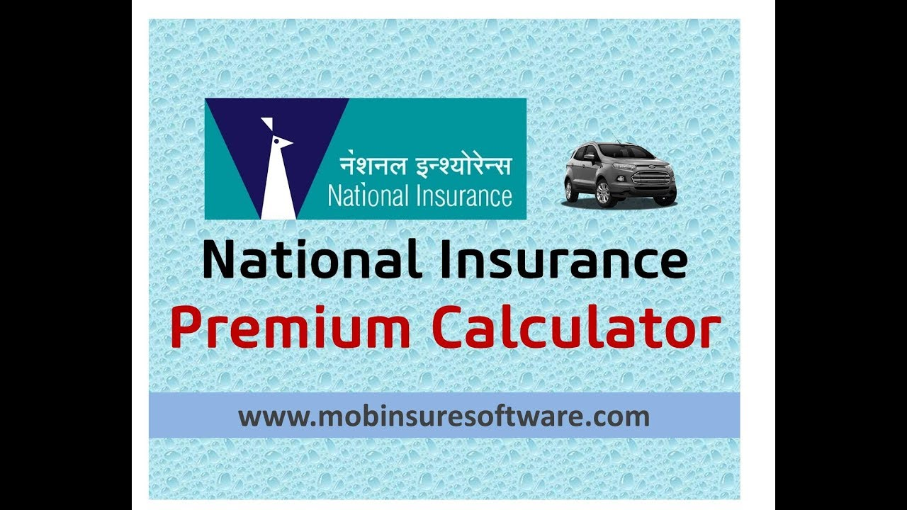 National Insurance Car Premium Calculator Zero Depreciation Premium Pdf Quotation Youtube
