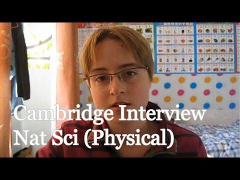 Cambridge Natural Sciences Interviews