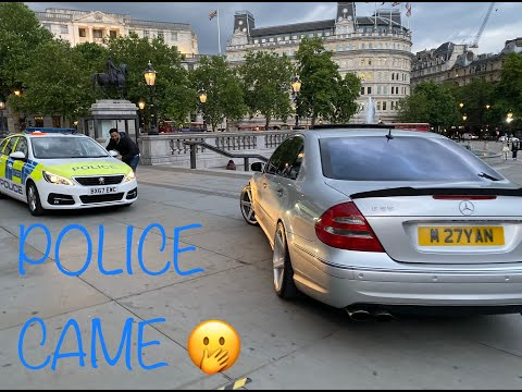 PARKING IN FRONT OF THE ART GALLERY!!!*** POLICE CAME!!! *** | MERCEDES BENZ E55 AMG W211